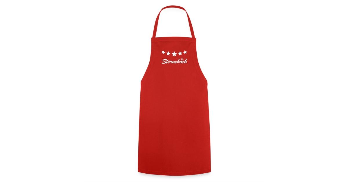 kochen ist liebe kochsch rzen sternekoch 5 sterne kochsch rze rot f r m nner geschenke und. Black Bedroom Furniture Sets. Home Design Ideas