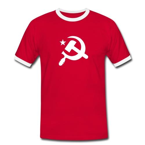 Classic Hammer Sickle Contrast Tee (more colors) - Men's Ringer Shirt