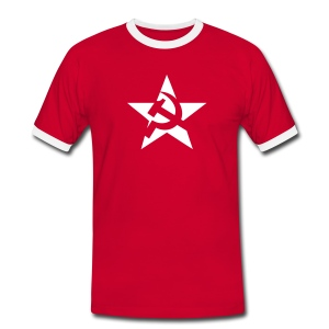 Soviet Star Contrast Tee (click for more colors) - Men's Ringer Shirt