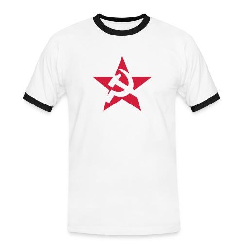 Soviet Star Contrast Tee - Men's Ringer Shirt