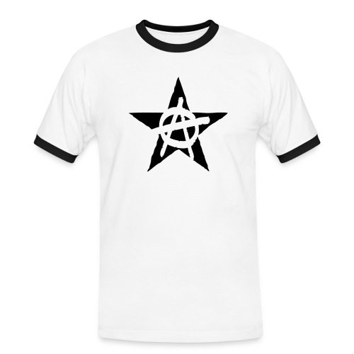 Anarchy Star Contrast Tee (click for more colors) - Men's Ringer Shirt