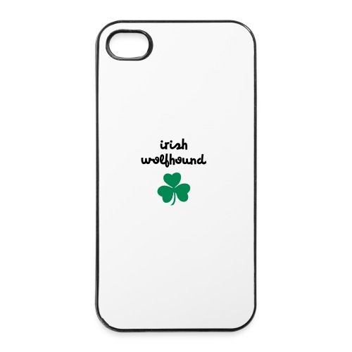 Irish wolfhound Trèfle - Coque rigide iPhone 4/4s