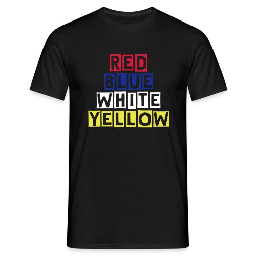 RedBlueWhiteYellow Cutter Mens T Shirt - Men's T-Shirt