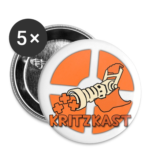 Kritzkast 1 buttons (5 pack) - Buttons small 25 mm