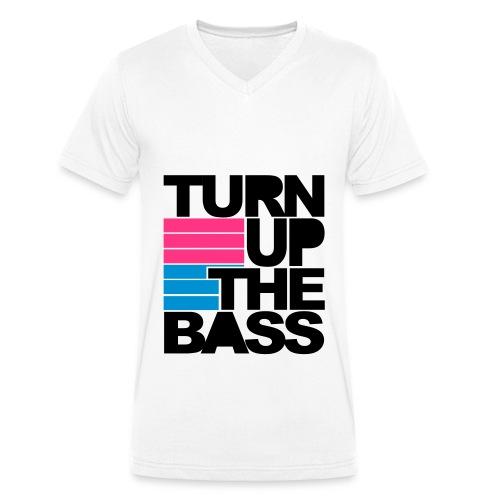 Turn Up Te Bass. - Mannen bio T-shirt met V-hals van Stanley & Stella