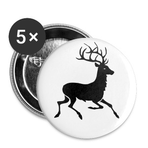 cerf - Badge grand 56 mm