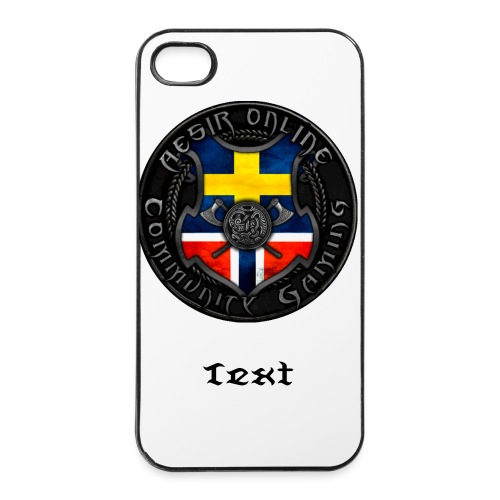 Iphone Skal med Nya logga + Text - Hårt iPhone 4/4s-skal