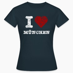 i_love_muenchen_vintage_hell T-Shirts