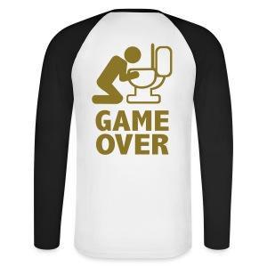 Game Over - Männer Baseballshirt langarm