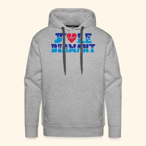 j'aime le Diamant - Sweat-shirt à capuche Premium pour hommes