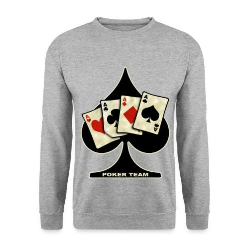 Felpa da uomo - poker felpa