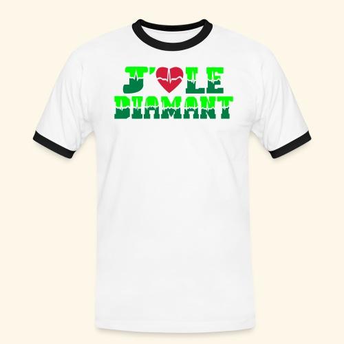 j'aime le Diamant - T-shirt contrasté Homme
