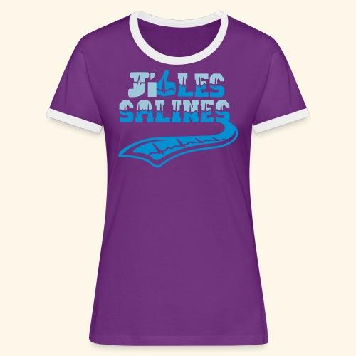 j'aime les Salines - T-shirt contrasté Femme