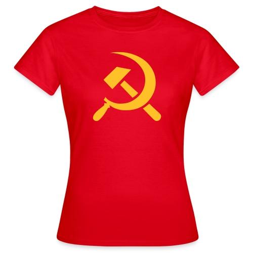 Hammer Sickle Stencil Women's T-Shirt - Women's T-Shirt