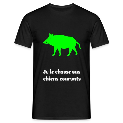 Sanglier, chiens courants - T-shirt Homme