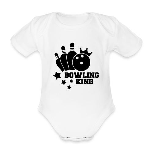 Bowling King rompertje - Baby bio-rompertje met korte mouwen