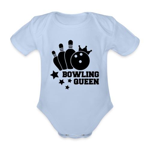 Bowling Queen Rompertje - Baby bio-rompertje met korte mouwen