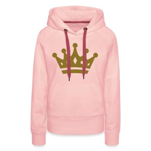 Vrouwen sweater met kroon! - Vrouwen Premium hoodie