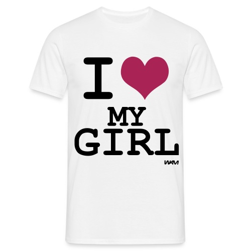 I love my girl t-shirt - Men's T-Shirt