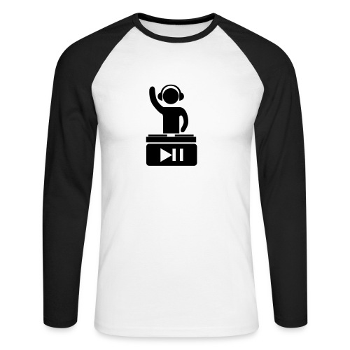 T-shirt Let's the music play - T-shirt baseball manches longues Homme