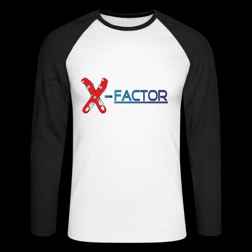 Factor - Maglia da baseball a manica lunga da uomo