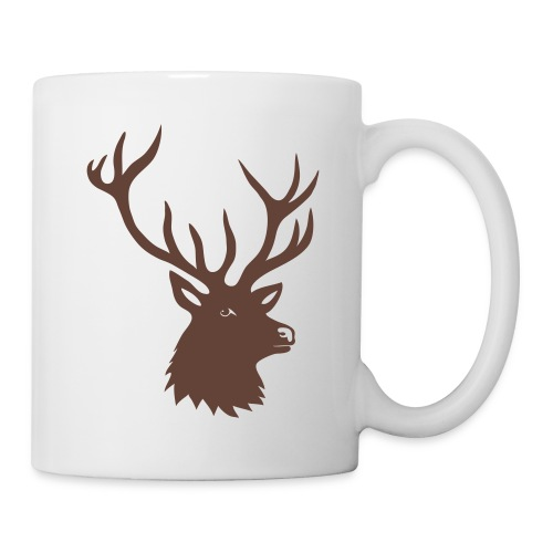 tasse tiershirt t-shirt hirsch röhrender brunft geweih elch stag antler jäger junggesellenabschied förster jagd - Tasse