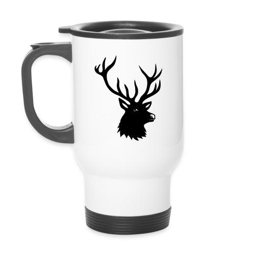 thermo tasse tiershirt t-shirt hirsch röhrender brunft geweih elch stag antler jäger junggesellenabschied förster jagd - Thermobecher