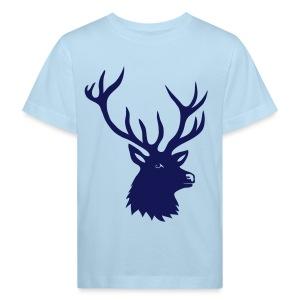 tiershirt t-shirt hirsch röhrender brunft geweih elch stag antler jäger junggesellenabschied förster jagd - Kinder Bio-T-Shirt
