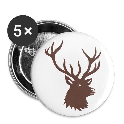 button tiershirt t-shirt hirsch röhrender brunft geweih elch stag antler jäger junggesellenabschied förster jagd - Buttons groß 56 mm