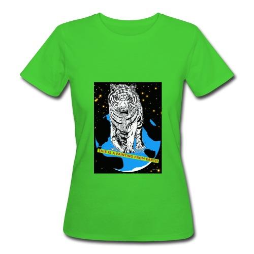 Biologisch vrouwen t-shirt met tijger - Vrouwen Bio-T-shirt