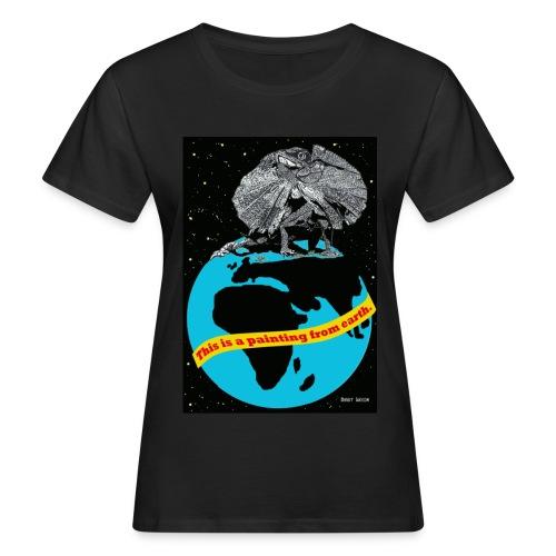 Biologisch vrouwen T-shirt met hagedis. - Vrouwen Bio-T-shirt
