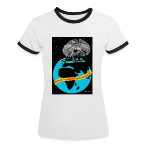 vrouwen T-shirt met hagedis - Vrouwen contrastshirt