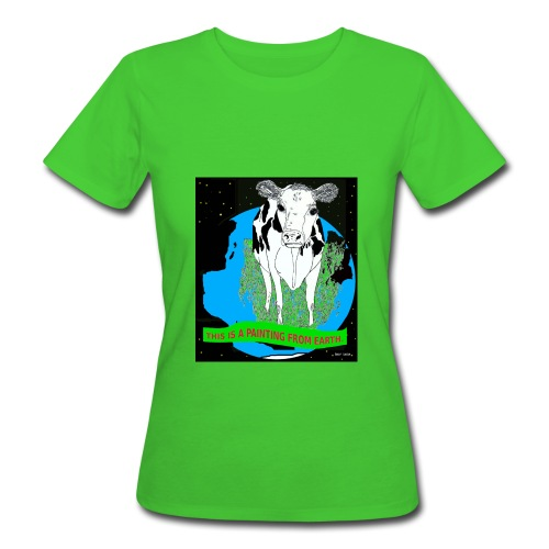 biologisch vrouw T-shirt koe - Vrouwen Bio-T-shirt