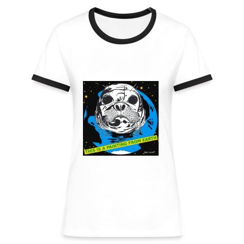 vrouwen T-shirt zeehond - Vrouwen contrastshirt