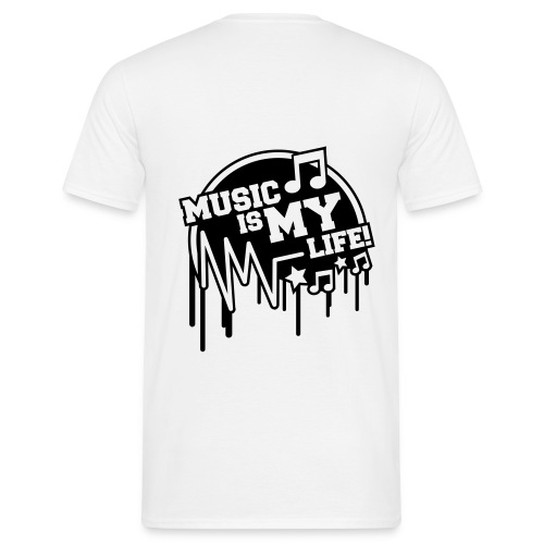Music is my life - Herre-T-shirt