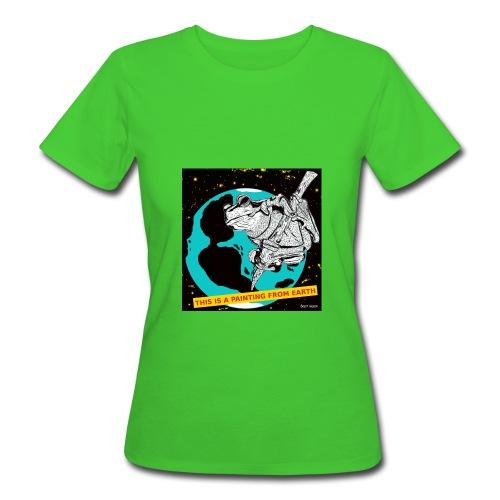 vrouwen t-shirt kikker - Vrouwen Bio-T-shirt