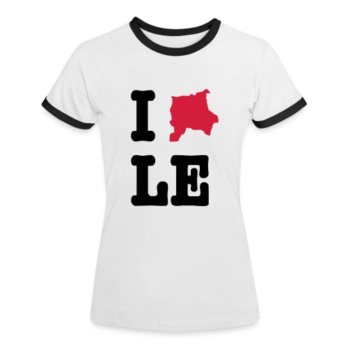 I Love Leipzig - College Shirt - Frauen Kontrast-T-Shirt