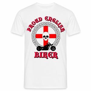 Skull - Proud English Biker - Men's T-Shirt