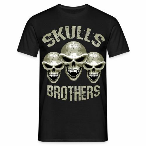 Skulls - Brothers - Men's T-Shirt