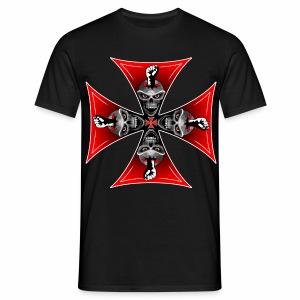 Skull - Cross & Skulls - Men's T-Shirt