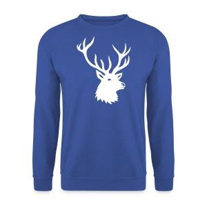 tiershirt t-shirt hirsch röhrender brunft geweih elch stag antler jäger junggesellenabschied förster jagd - Männer Pullover