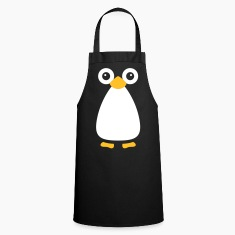 Cute Vector Penguin Cooking Apron