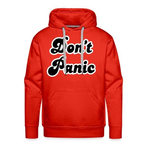 Don't Panic (velvet print) - Men's Premium Hoodie
