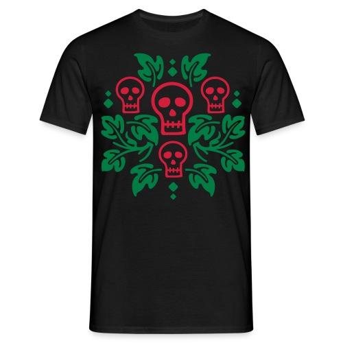 Calaveras y ramas-color- - Camiseta hombre