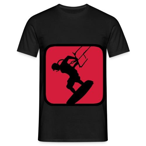 Black and Red Kitesurfing - Men's T-Shirt