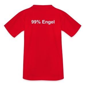 99% Engel rot - Teenager T-Shirt
