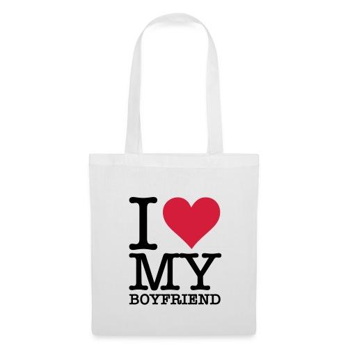 i love my boyfriend - Stoffbeutel