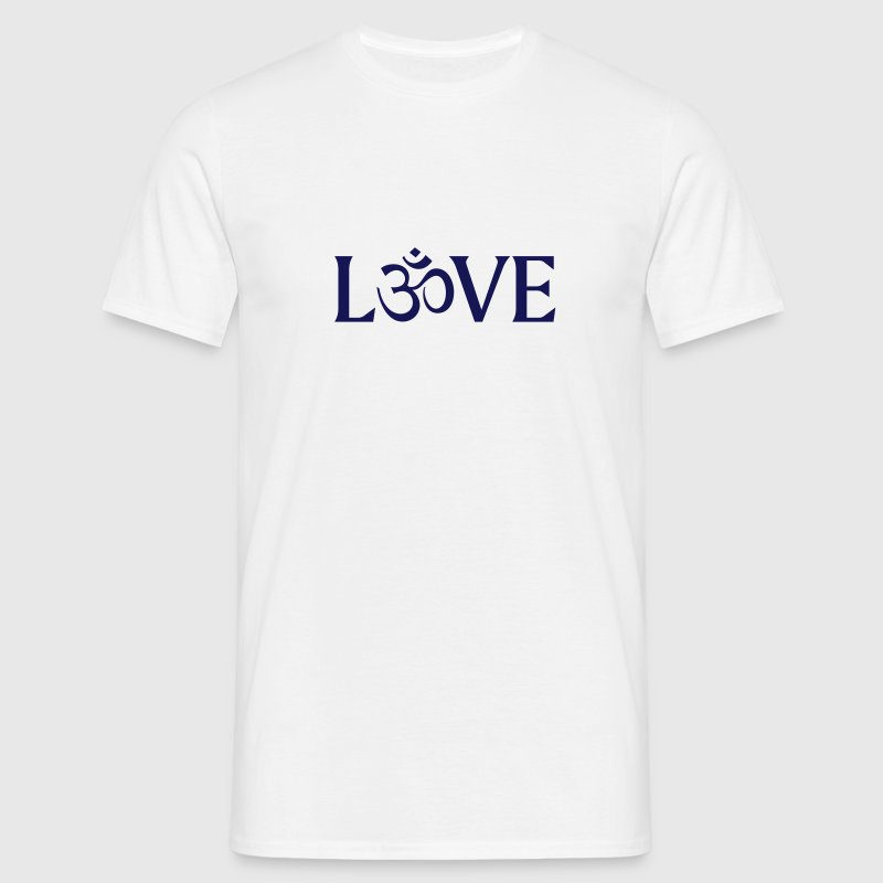 Love with the Symbol OM.  T-Shirts - Men's T-Shirt