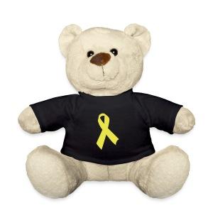 Teddy mit gelber Schleife - Teddy