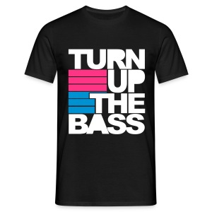 Turn Up The Bass - Pink/Blue/White - Men's T-Shirt